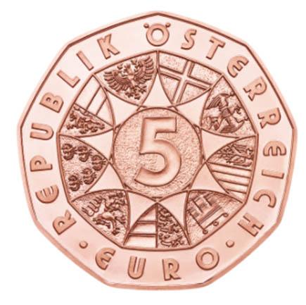 Áustria 5€ Novo Impulso 2017