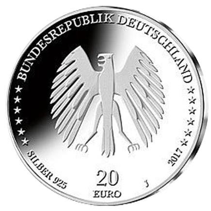 Alemanha 20€ Bremen 2017 Letra J Brevemente