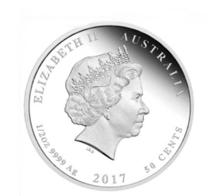 Austrália 50 cents (1/2oz) Nascimento 2017