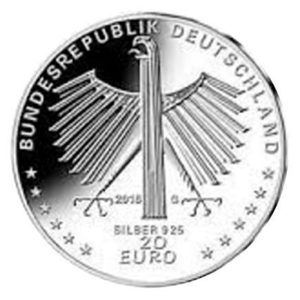 Alemanha 20€ Otto Dix 2016 Letra G