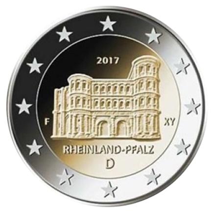 Alemanha 2€ Porta Nigra 2017