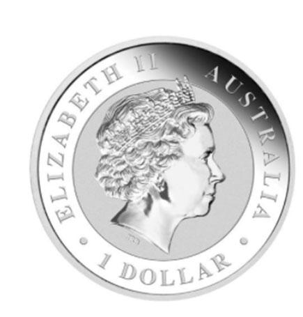 Austrália 1$ Parabéns 2017