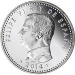 Espanha 30€ Proclamação do Rei Filipe VI 2014