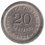 20 Centavos 1921 Módulo Menor MBC