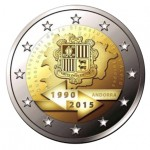 Andorra 2€ 25ª Aniversário da assinatura do Acordo Aduaneiro com a UE 2015