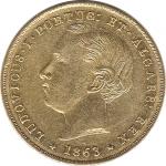 D. Luís I 5000 Réis 1863