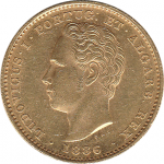 D. Luís I 5000 Réis 1886