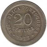 Portugal 20 Centavos de 1922