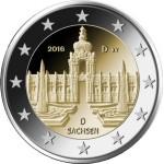 Alemanha 2€ Palácio Zwinger de Dresden 2016
