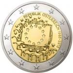 Áustria 2€ 2015 - 30 anos da Bandeira Europeia