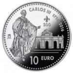 Espanha 10€ 3º Centenário de Carlos III 2016