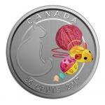 Canadá 25 cêntimos de Dollar Amo o meu Gato 2017
