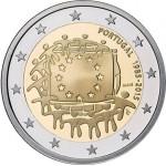 Portugal 2€ 2015 - 30 Anos da Bandeira Europeia Proof Brevemente