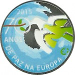 Portugal 2,50€ 70 Anos Paz na Europa Pintada