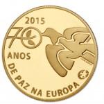 Portugal 2,50€ 70 Anos Paz na Europa Ouro