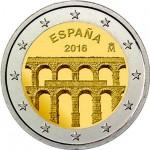 Espanha 2€ Aqueduto de Segóvia 2016 Brevemente