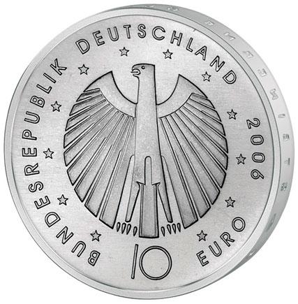 Alemanha 10€ - Letra J - 2006 - Mundial FIFA 2006