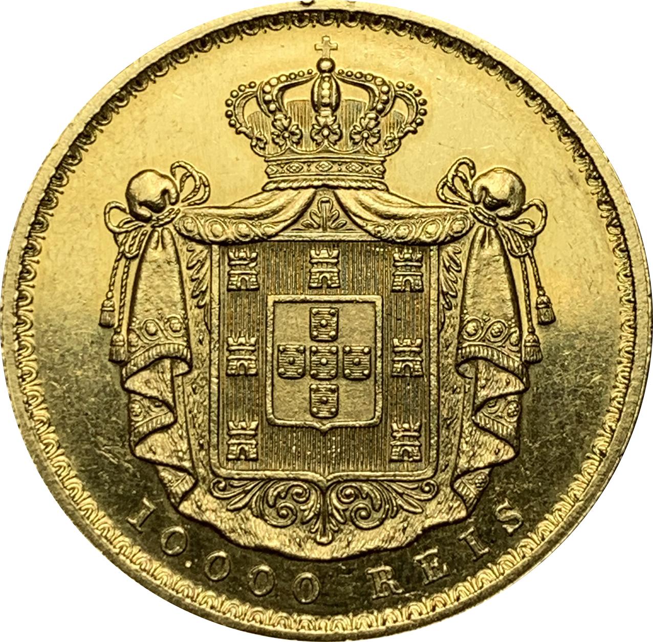 D. Luís 10.000 Réis (Coroa) 1879