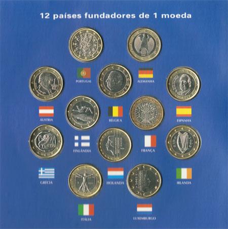 Conjunto Moedas 1€ dos países fundadores do Euro