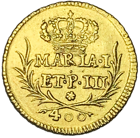 D. Maria I e D. Pedro III Pinto (Cruzado) 1784