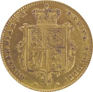 Inglaterra 1/2 libra Victoria 1846 Brasão