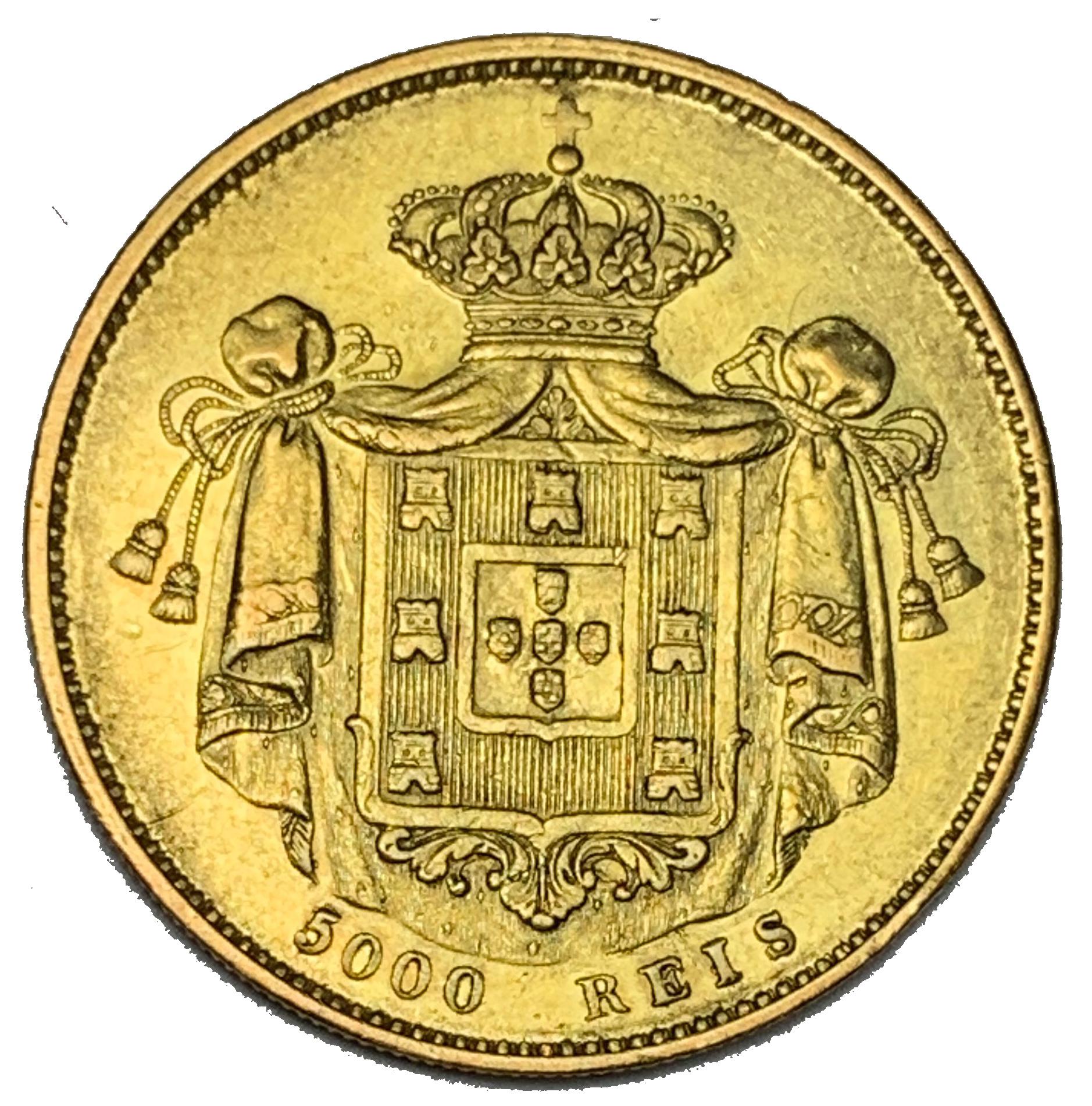 D. Pedro V 5000 Réis 1861