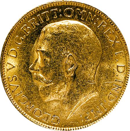 """Libra Georgivs V 1917 """"P"""" ouro"""