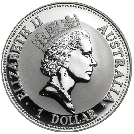 Austrália 1 Dollar Kookaburra 1993