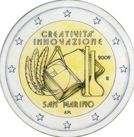 São Marino 2€ 2009 - Criatividade e Inovação