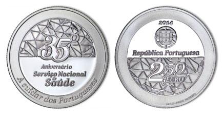 Portugal 2,50€ 35º Anos do Serviço Nacional de Saúde Proof 2014