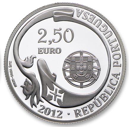 Portugal 2,50€  75º Aniv. Navio Escola Sagres Prata Proof 2012