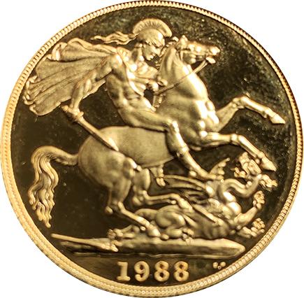 Inglaterra 2 Libras 1988