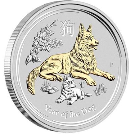 Austrália 4x 1$ Ano do Cão 2018