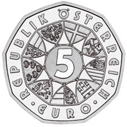 Áustria 5€ Alargamento da UE 2004