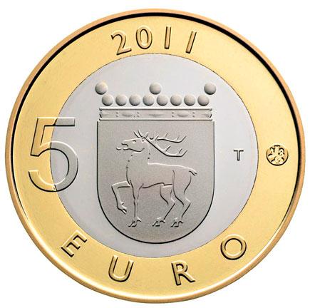 Finlândia 5€  Província das Ilhas Aland 2011