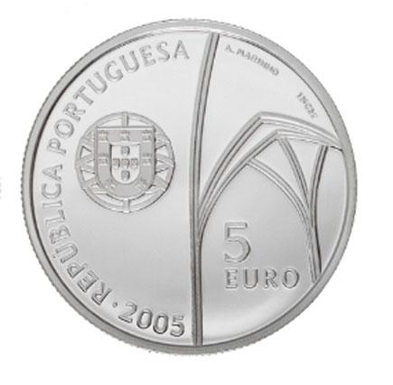 Portugal 5€ Mosteiro da Batalha Prata Proof  2005