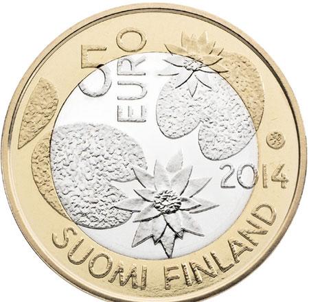 Finlândia 5€ Natureza Nordica  2014