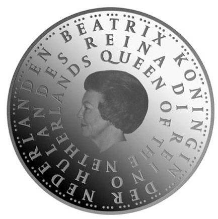 Holanda 5€ 50 anos dos Estatutos do Reino  2004
