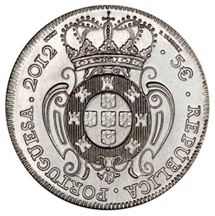 Portugal 5€ A Peça de D.João V 2012