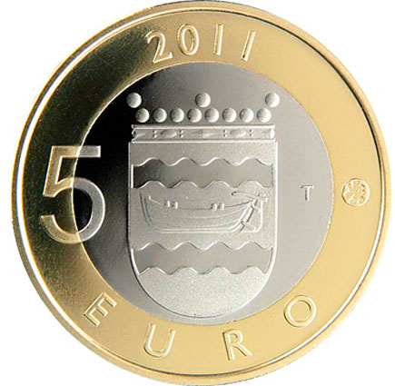 Finlândia 5€ Província da Uusimaa 2011