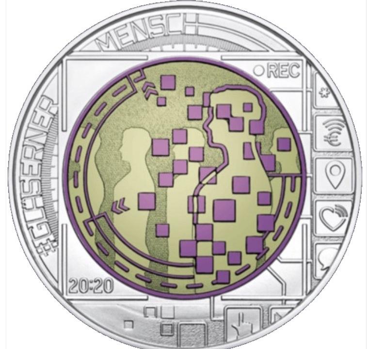 Áustria 25€ Big Data Niob 2020