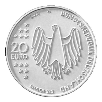 Alemanha 20€ 500 Anos da Reforma 2017 Letra A
