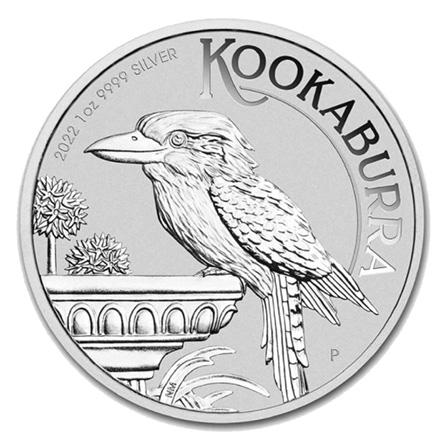 Tubo de 20 moedas Austrália 1 Dollar Kookaburra 2022 1oz. Prata