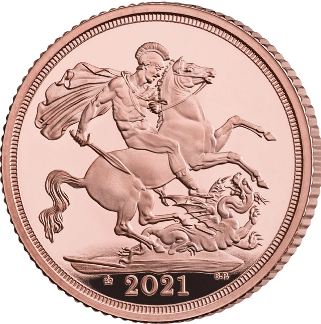 Inglaterra Libra (Sovereign) 2021 Proof