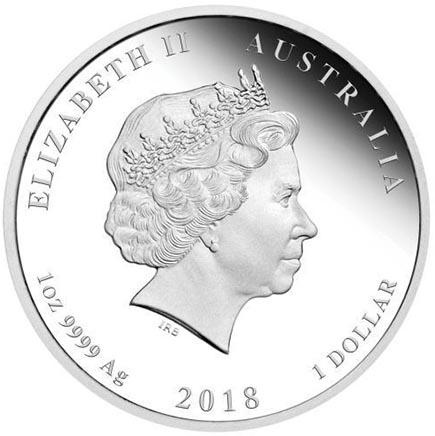 Austrália 1 Dollar Ano do Cão (1oz Proof ) 2018
