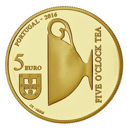 Portugal 5€ Catarina de Bragança Ouro 2016