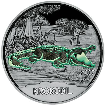 Áustria 3€ Crocodilo 2017