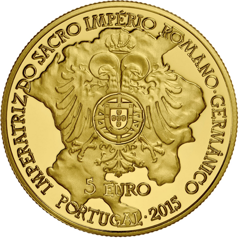 Portugal 5€ D. Isabel de Portugal Ouro 2015