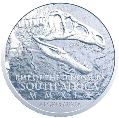 África do Sul 25 Rand Palaeontology 2019 1 oz