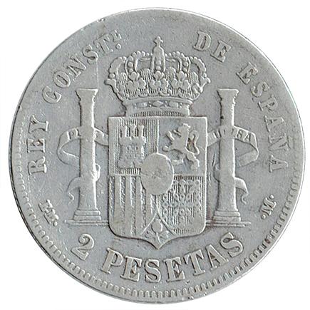 Espanha 2 Pesetas de 1879